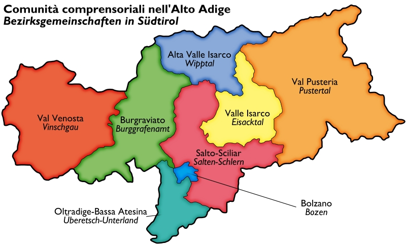 Bezirke-Alto-Adige