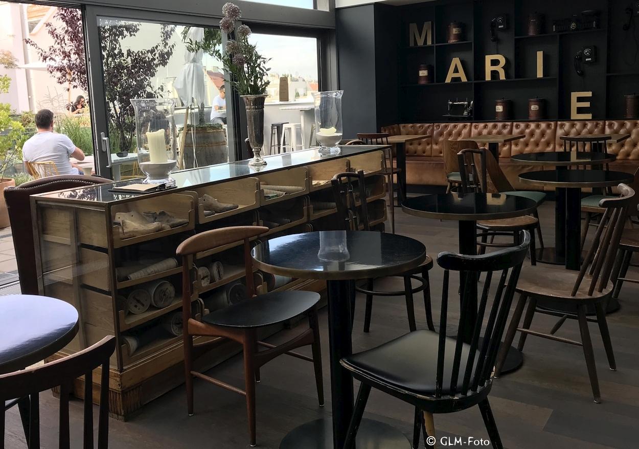 Bar und Frühstücksraum im Ruby Marie in Wien