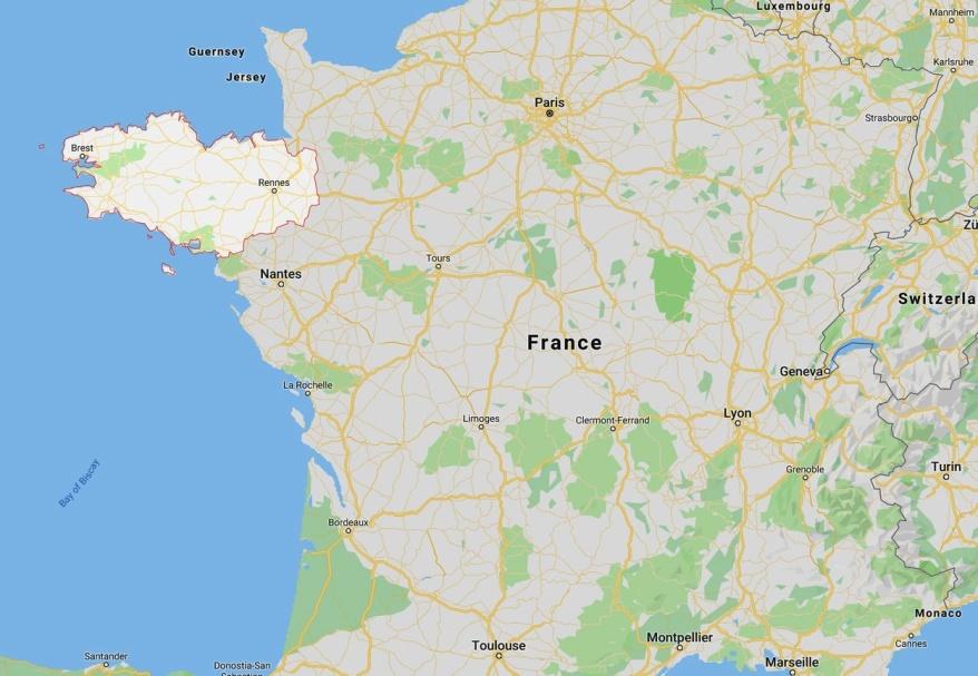 Bretagne - geographische Lage