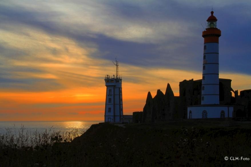 Leuchtturm am Point Saint Mathieu im Finistère